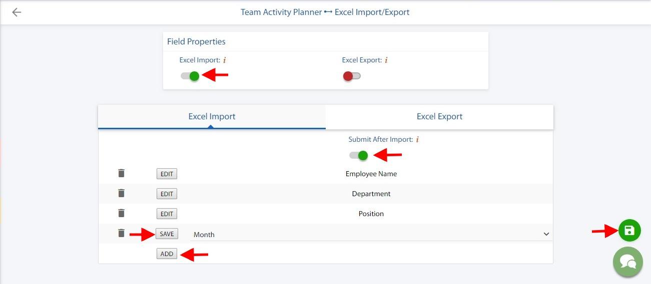 Spreadsheet import