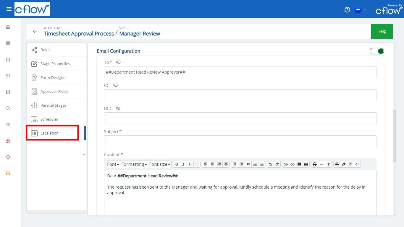Escalation email2