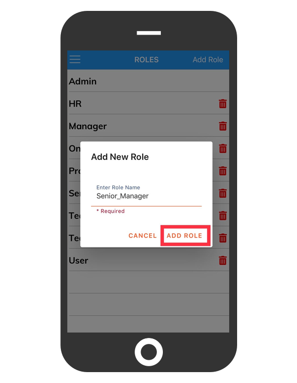 cflow mobile app_add new role to your workflow