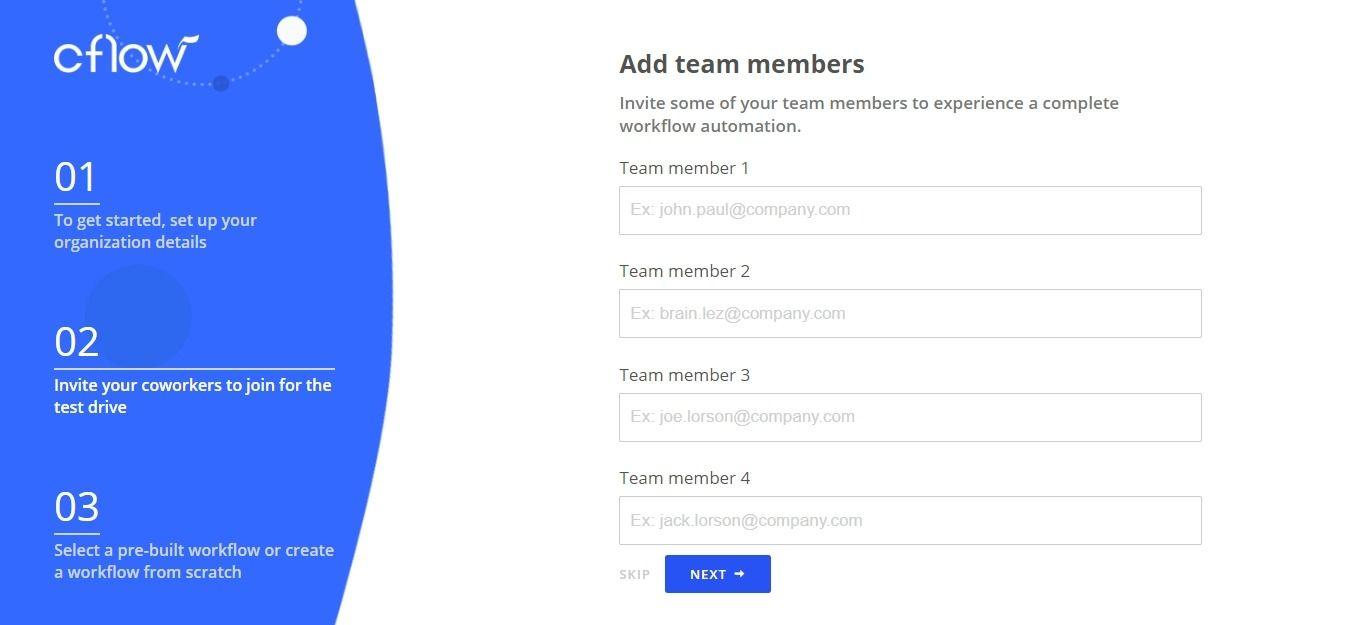 invite team