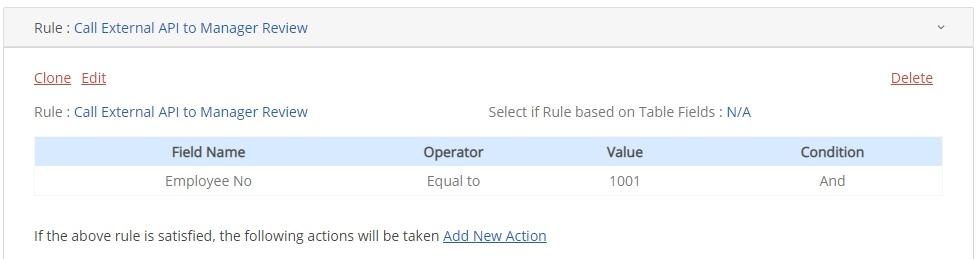 API rule